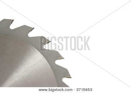 Spinning Circular Saw Blade On White Background