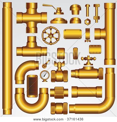 Golden Vector Pipeline Elements