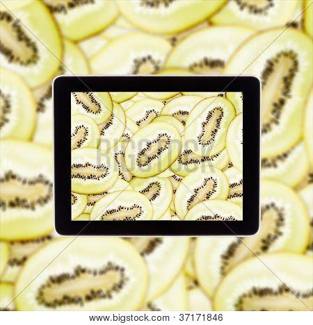 Kiwi na tela do Tablet Computear