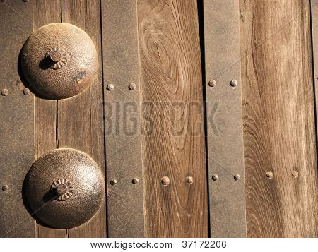 Part Of Japanese Castle Door