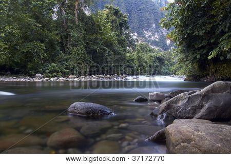 river in Gunung Mulu National Park,Sandakan,Borneo,Malaysia