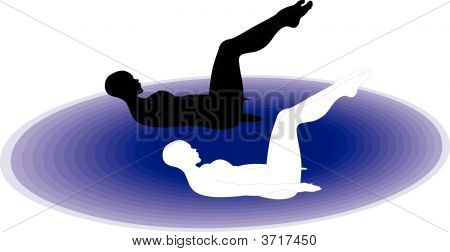 Gym: Pilates Position With Legs Up