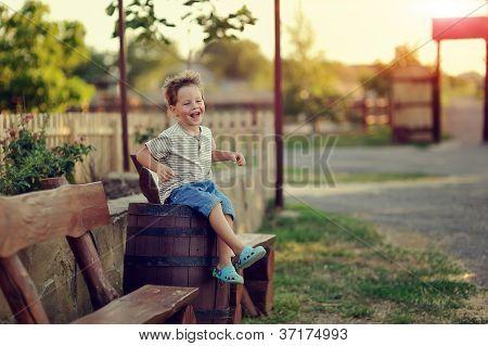 der junge auf der ranch