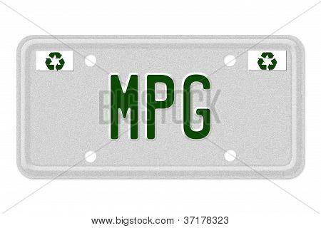 Mpg Car  License Plate