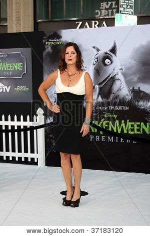 "LOS ANGELES - SEP 24:  Marcia Gay Harden arrives at the ""Frankenweenie"" Premiere at El Capitan Theater on September 24, 2012 in Los Angeles, CA"
