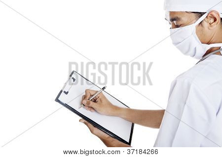 Doctor Makes A Medical Report