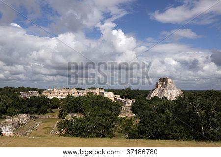 Maya ruins in Uxmal, Yucatan, Mexico