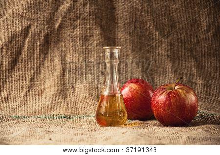 Apple Brandy On Table