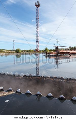 Edge Of Sedimentation Tank With Clean Water Overflowing