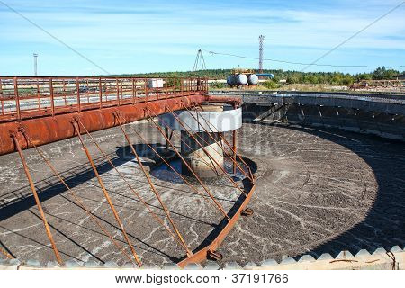 Empty Huge Round Form Sedimentation Settler Tank