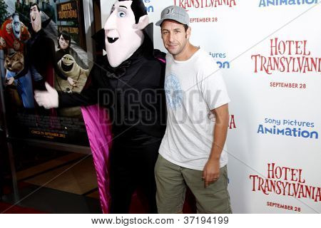 LOS ANGELES - SEP 22:  Adam Sandler, Dracula Character at the screening of  'Hotel Transylvania' at Pacific Theater at The Grove on September 22, 2012 in Los Angeles, CA