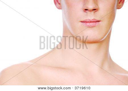 Half Human Male Face