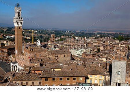 Torre Del Mangia In Siena, Italy