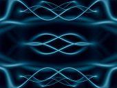 Постер, плакат: Фэнтези Blue Чужеродные зеркальные волны