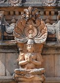 image of vijayanagara  - detail of the Krishna Temple at Hemakuta Hill a part of the Sacred Center of Vijayanagara around Hampi a city located in Karnataka South West India - JPG