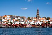 stock photo of west village  - Swedish fishing village Fj - JPG