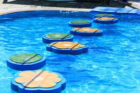 stock photo of tarzan  - Tarzan pool in water park Rhodes Greece - JPG