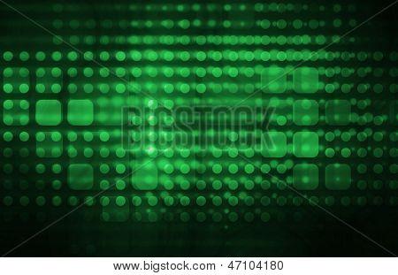 Infraestrutura de tecnologia como uma arte abstrata verde