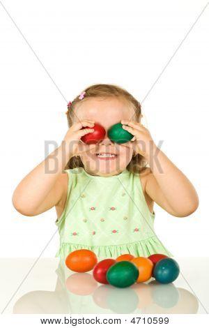 Happy Little Girl Having Fun