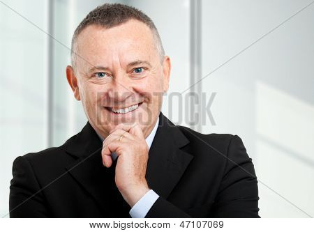 Elder businessman portrait