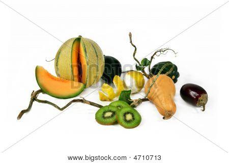 Eggplants And Melon