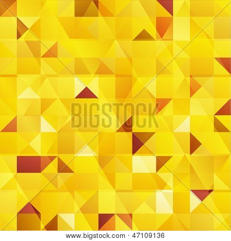 Yellow vector abstract triangles seamless pattern