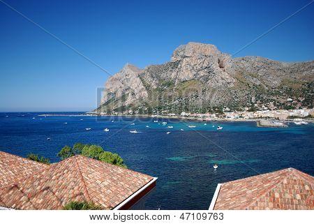Capo Gallo and Barcarello view