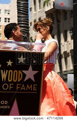 LOS ANGELES - JUN 20:  Benny Medina, Jennifer Lopez at the Hollywood Walk of Fame star ceremony for Jennifer Lopez at the W Hollywood Hotel on June 20, 2013 in Los Angeles, CA