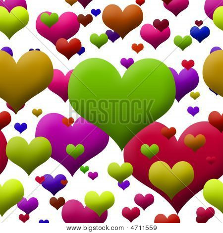 Brightly Colored Hearts