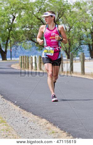 Coeur d'Alene Ironman executando o evento