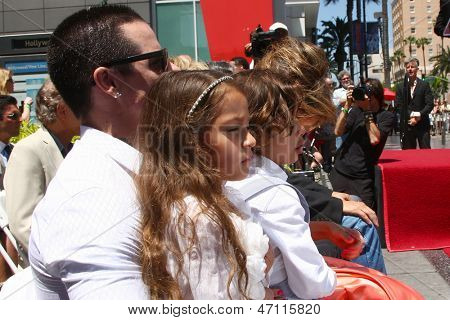 LOS ANGELES- JUN 20: Casper Smart, Emme Anthony, Jennifer Lopez, Max Anthony at the Hollywood Walk of Fame star ceremony for Jennifer Lopez at the W Hollywood Hotel on June 20, 2013 in Los Angeles, CA