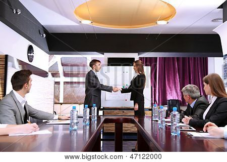 Business training at office