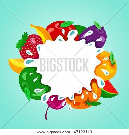 Assorted Fruit Splash Element