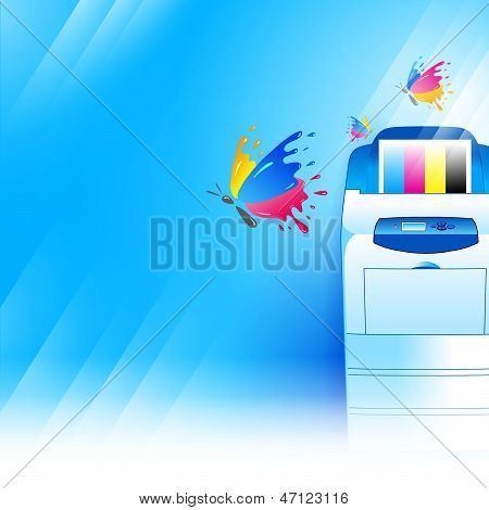 Vector Printer Background Abstract Blue Texture