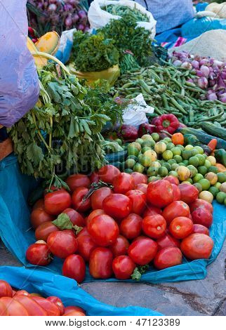 Tomatoes, Market Day At Pisac, Peru