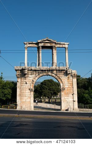 View of the ancient Hadrian's Arch