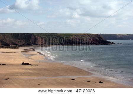 A Sandy Beach In Cornwall