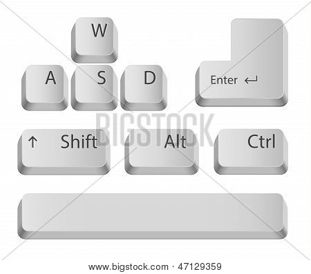 Main keyboard buttons.