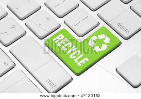 Recycle on the computer keyboard