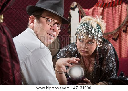 Businessman With Fortune Teller