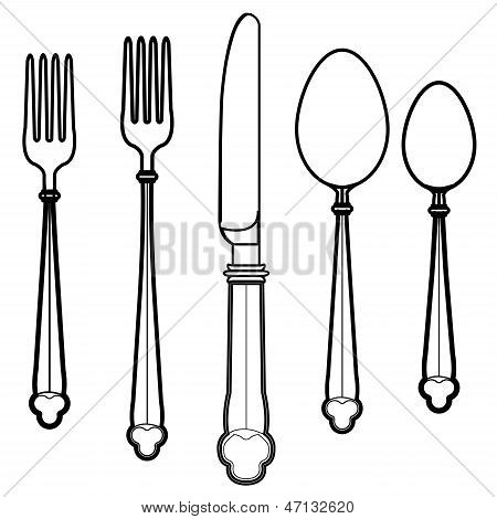 Eating Utensils Vector.eps