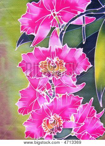 Pink Batik Orchids