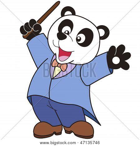 Historieta Panda música Conductor.