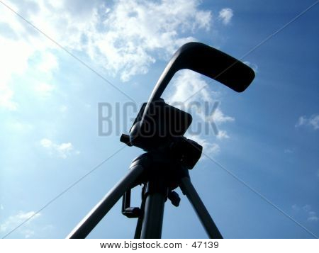 A Tripod Against Blue Sky