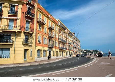 Nice - Architecture Along The Promenade Des Anglais