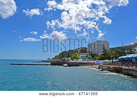 Alushta, Ukraine - Jun 01: Newly Constructed Radisson Blue Hotel Near Black Sea In Alushta, Ukraine