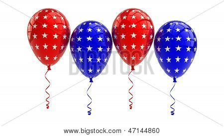USA Balloons, 4th july