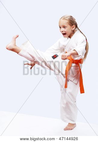Professional karate girl
