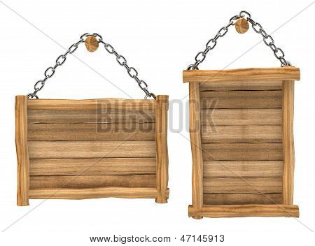 empty wooden board hanging