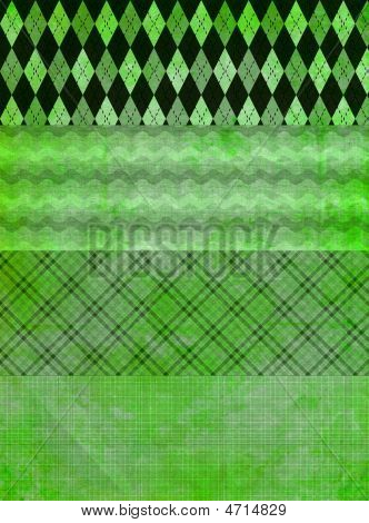 Green Grunge Banner Backgrounds